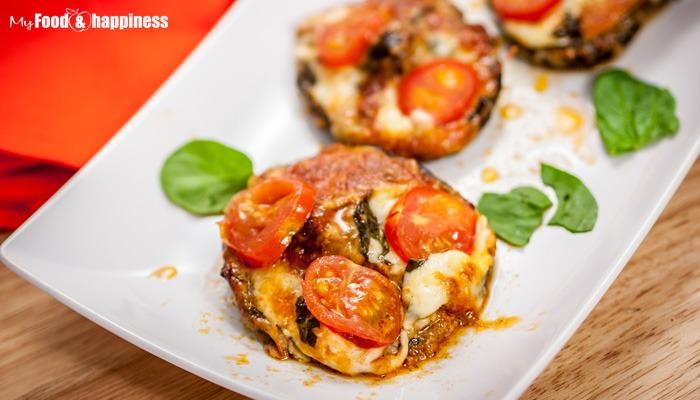 Sun-dried tomato pesto, mozzarella stuffed portobello mushrooms recipe