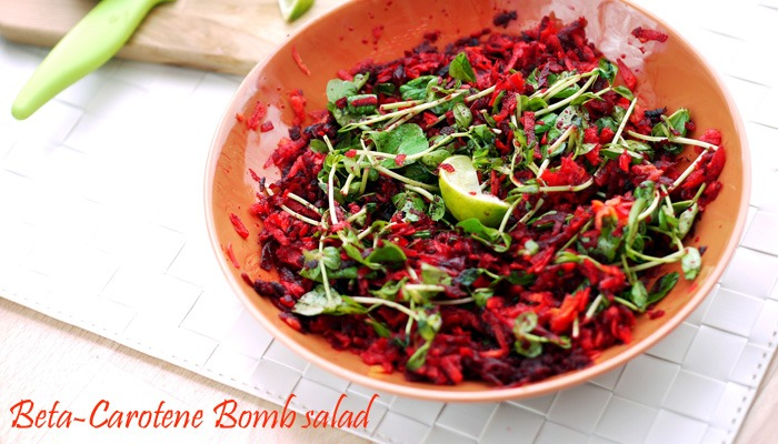 Beta-Carotene Bomb salad