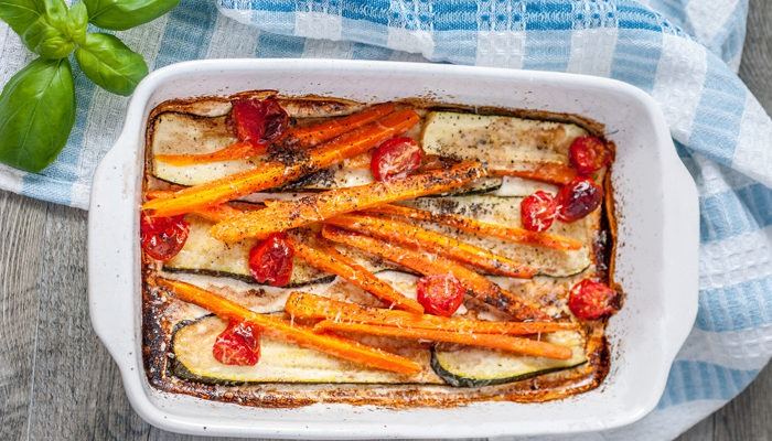 Oven-baked Balsamic vegetables