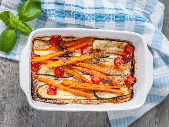 Oven-baked Balsamic vegetables