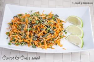 Carrot & Cress salad