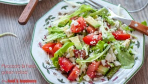 Avocado & Feta green salad