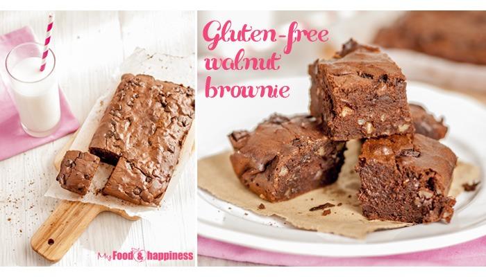 Simple gluten-free walnut brownie