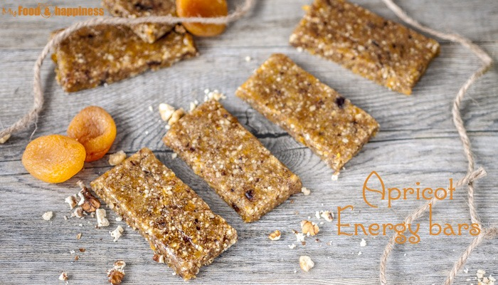 No bake Vegan Apricot Energy bars