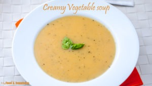 Simple Creamy Vegetable soup