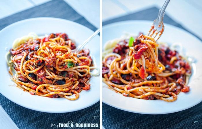 ... & mushroom delicious easy vegetarian tomato pasta / spaghetti sauce