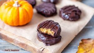 No bake Pumpkin Cream Chocolate cookies