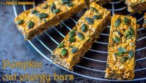 Simple Pumpkin oat energy bars