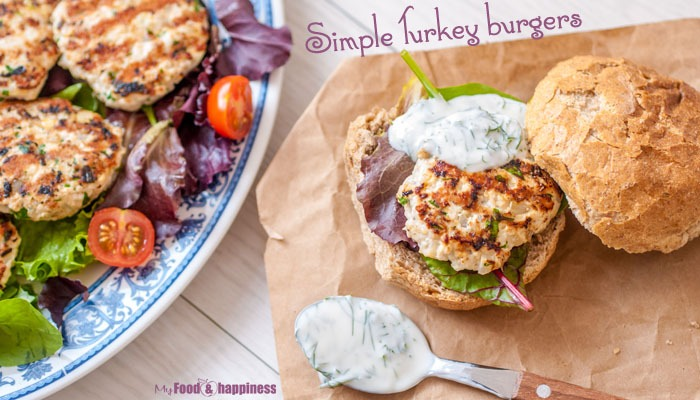 Simple and easy high in protein Turkey burgers healthy recipe