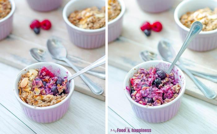 Delicious Apple & Berries vegan & gluten-free blueberry crumble