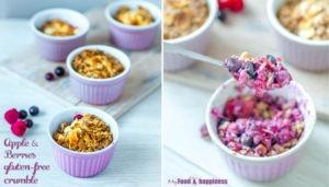 Apple & Berries gluten-free crumble