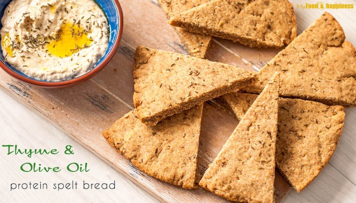 Easy Thyme & Olive oil protein spelt bread