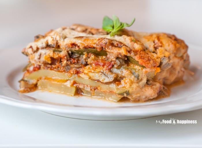 Gluten-free vegetarian Zucchini Lasagna - My Food & Happiness
