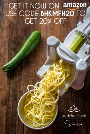 Buy the bodyharmonik spiralizer, get 20% off