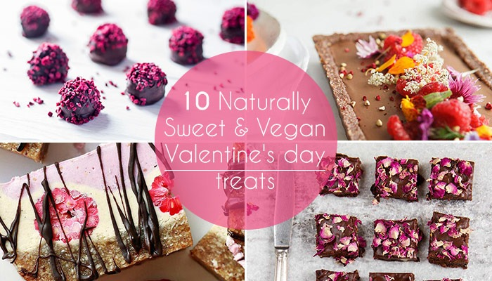 10 Naturally Sweet & Vegan Valentine's day treats