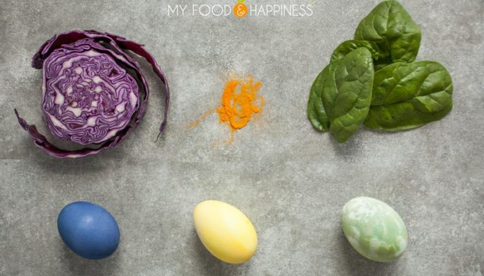 How to make your own natural egg dye from natural ingredients like vegetables, fruits and spices, without using store-bought synthetic egg dye. Blue, yellow and green are the main colours I am trying in this post.