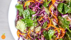 Colourful Quinoa salad with Sesame Soy dressing