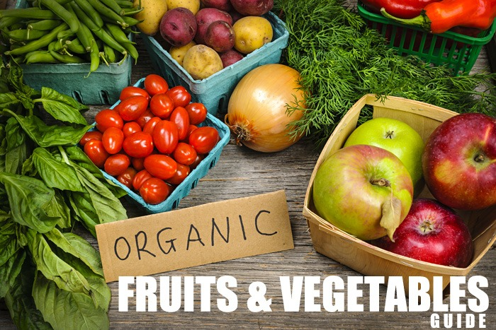 Fruits and vegetables guide. Organic on a budget.