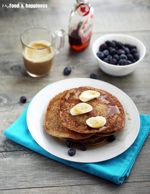 Healthy dairy free, wholemeal banana pancakes recipe