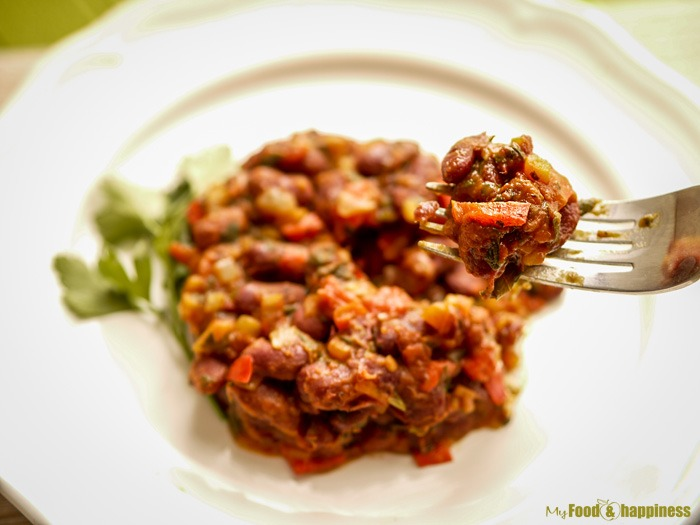 Red kidney beans with vegetables recipe