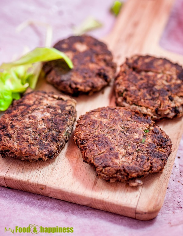 Easy Red kidney bean vegetarian burgers/patties recipe