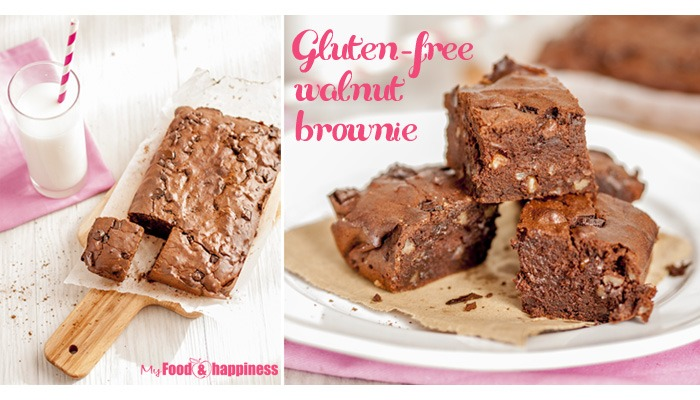 Simple gluten-free walnut brownie