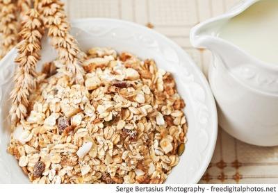 Bowl of muesli - healthy breakfast