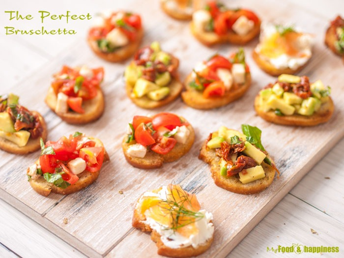 Crispy thin Bruschetta recipe with orgeano, tomato and avocado mixtures.