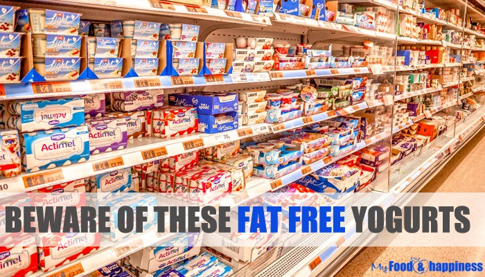 Beware of these fat free yogurts!