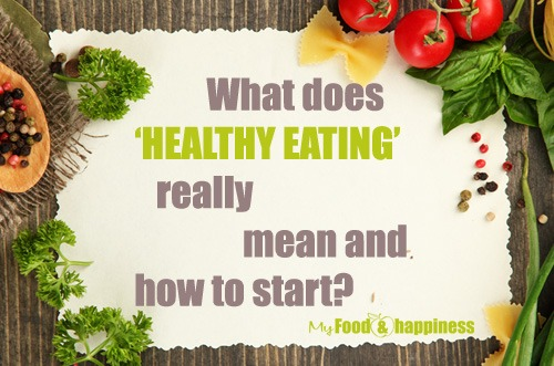 HEALTHY EATING and how to start - My Food & Happiness