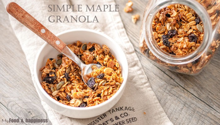 Simple homemade Maple granola