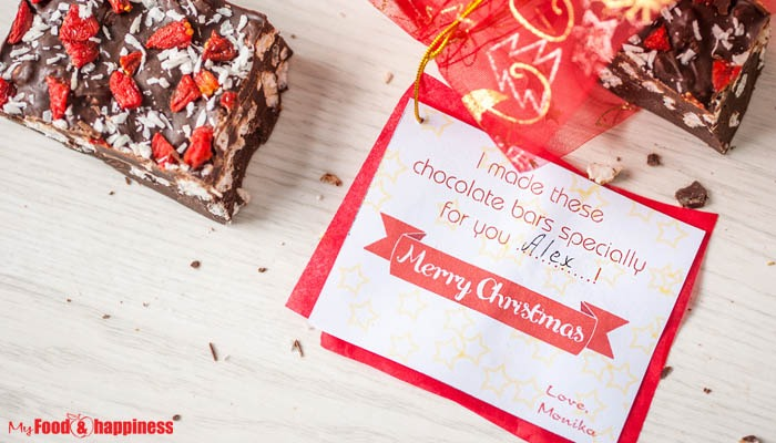 Cinnamon Rice chocolate bars + free printable gift card