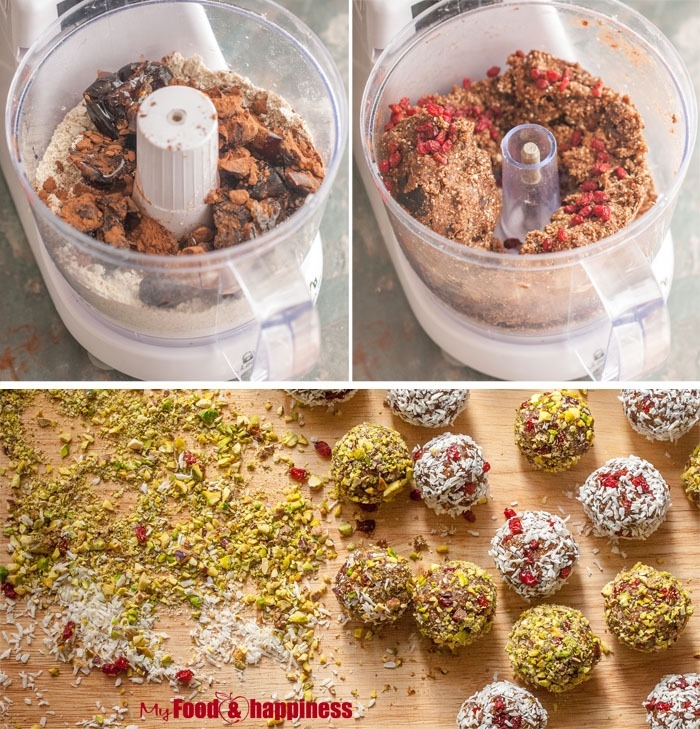 No Bake Ginger & cinnamon bliss balls collage