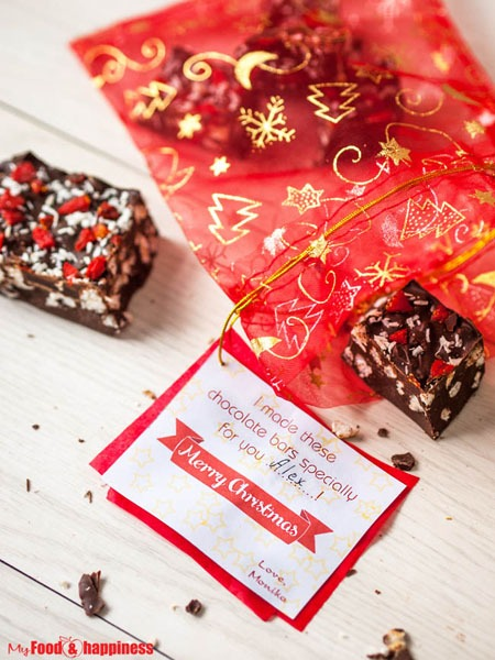 Edible Christmas gift idea - Cinnamon Rice chocolate bars 3