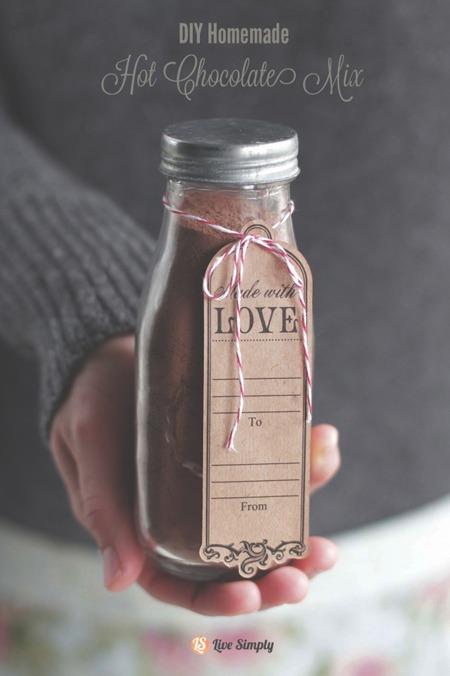 Edible Christmas Gifts - Hot chocolate mix