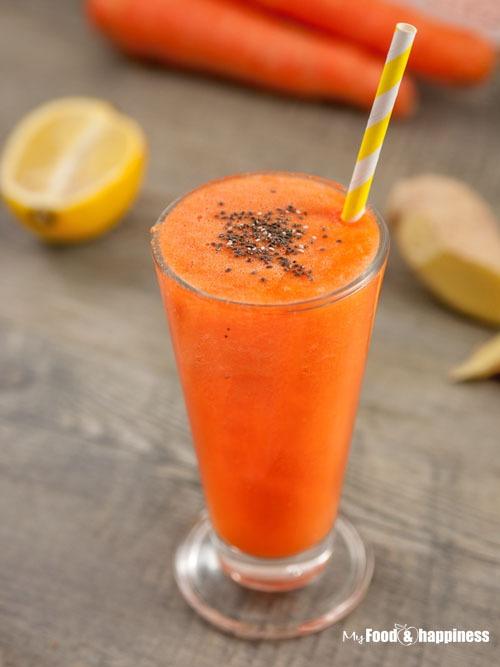 Carrot smoothie / Carrot ginger beta-carotene smoothie/ orange smoothie