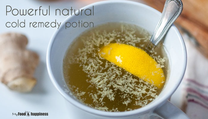 Powerful natural cold remedy potion