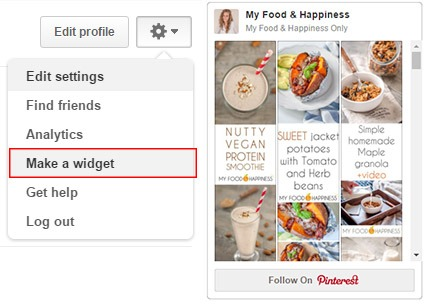 How to make a Pinterest widget for your blog