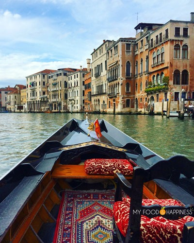 Italy in a week: Venice in a day. View of Grand canal from gondola