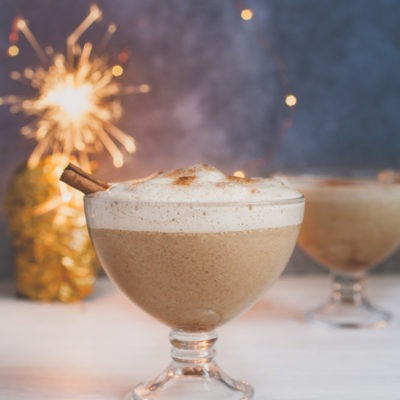 Creamy Vegan Eggnog with Aquafaba + Video