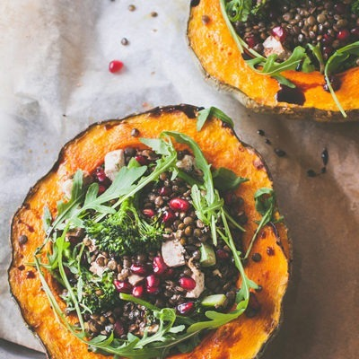 Easy Lentil Pumpkin bowls (Vegan and Gluten-free)
