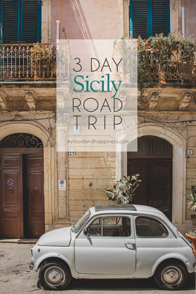 3 day Sicily road trip itinerary: food, city life & beaches